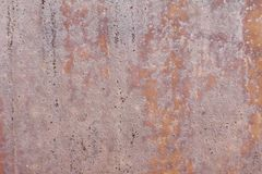 Vieux mur métallique Porte de garage Texture Fond grunge de type Mur rouillé Image libre de droits