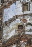 Vieux mur négligé de bâtiments comme fond Photo libre de droits
