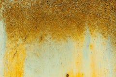 Vieux mur orange texturisé en métal Image stock