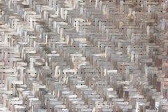 Vieux mur pauvre en bambou Photos libres de droits