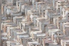 Vieux mur pauvre en bambou Image stock