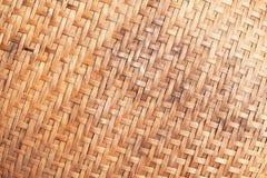 Vieux mur pauvre en bambou Image libre de droits