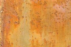 Vieux mur rouillé grunge en métal Photographie stock libre de droits