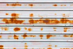 Vieux mur rustique en métal Photo stock