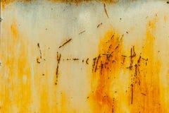 Vieux mur rustique texturisé en métal Photos libres de droits