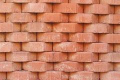 Vieux mur superficiel par les agents de brique comme fond Images stock