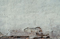 Vieux mur superficiel par les agents des briques et d'une terre, fond, série de texture Photos stock