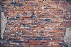 Vieux murs de briques rouges pour le fond Photos stock