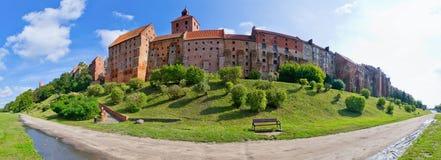 Vieux murs de Grudziadz, Pologne Image libre de droits