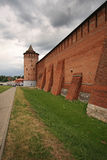 Vieux murs de Kolomna Kremlin Image stock