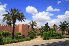 Vieux murs de ville de Marrakech Photographie stock libre de droits