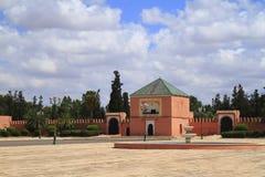 Vieux murs de ville de Marrakech Image libre de droits