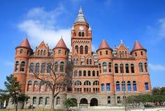 Vieux musée rouge à Dallas, le Texas Photographie stock libre de droits