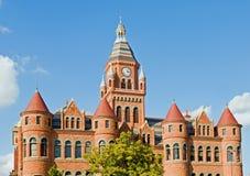 Vieux musée rouge de Dallas Photographie stock libre de droits