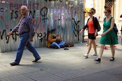 Vieux musicien à la rue à Istanbul, Turquie photographie stock