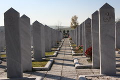 vieux musulman marocain de fes capitaux de cimetière Image stock