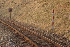 Vieux narow-mesurez le chemin de fer Photo libre de droits