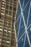 vieux neuf de Manhattan contre Photographie stock