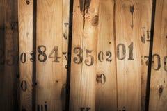 Vieux nombres photographie stock