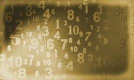 Vieux nombres Images libres de droits
