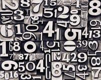 Vieux nombres en métal Photos libres de droits