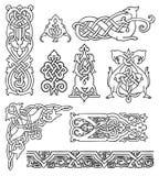 Vieux ornements russes antiques réglés Image libre de droits