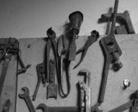 Vieux outils image stock