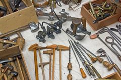 Vieux outils photos stock