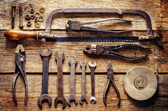 Vieux outils Photographie stock
