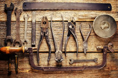 Vieux outils Images stock