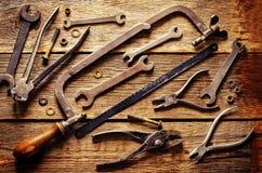 Vieux outils Images libres de droits