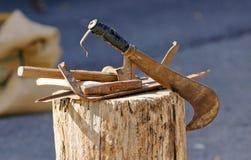 Vieux outils agricoles photographie stock