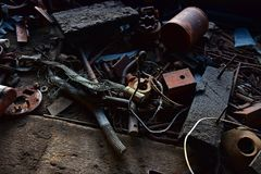 Vieux outils antiques Photo libre de droits