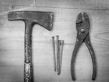 Vieux outils de bâtiment photo libre de droits