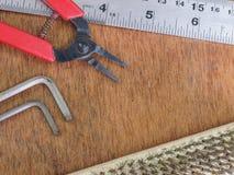 Vieux outils de boisage Image stock