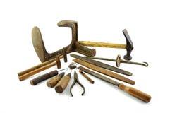 vieux outils de cordonnier Photo stock