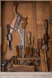 Vieux outils de travail du bois Image stock