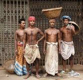 vieux ouvriers de Dacca Image libre de droits