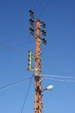 Vieux pôle d'elctricity Photo libre de droits