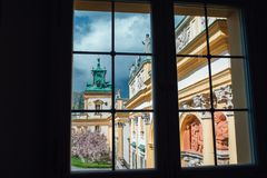 Vieux palais antique à Varsovie Wilanow Photos stock