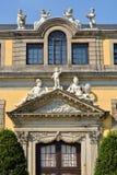 Vieux palais dans des jardins de Herrenhausen, Hanovre, basse-saxe, Allemagne, l'Europe Images stock