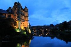 Vieux Palais, Espalion, Aveyron (Frankrijk) Stock Afbeelding