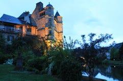 Vieux Palais, Espalion, l'Aveyron (Frances) Image libre de droits