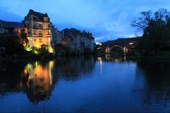 Vieux Palais, Espalion, l'Aveyron (Frances) Images libres de droits