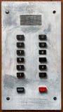 Vieux panneau d'ascenseur Image stock