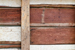 Vieux panneau de bois dur de plan rapproché Image libre de droits