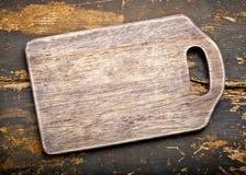 Vieux panneau de découpage en bois Photo libre de droits