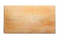 Vieux panneau de découpage en bois utilisé et rayé Photos libres de droits