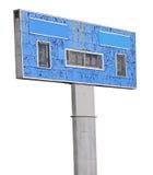 Vieux panneau de rayure au stade de football Images libres de droits