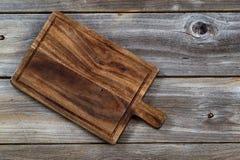 Vieux panneau en bois de serveur Photographie stock